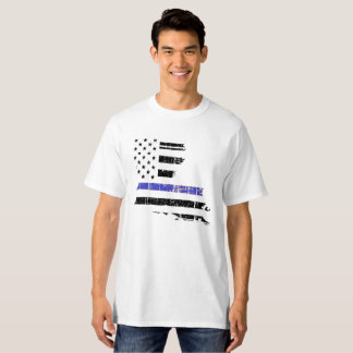 Thin Blue Line Louisiana Law Enforcement Police T-Shirt