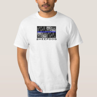THIN BLUE LINE MARYLAND STATE FLAG SHEEPDOG T-Shirt