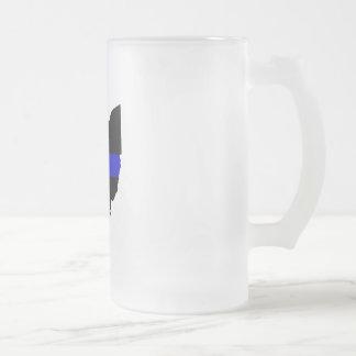 Thin Blue Line Ohio Frosted Mug