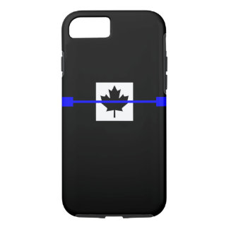 Thin Blue Line on Canadian Flag Decor iPhone 8/7 Case