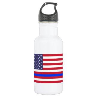 """THIN BLUE LINE on FLAG"" 532 Ml Water Bottle"
