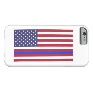 """THIN BLUE LINE on FLAG"" Barely There iPhone 6 Case"