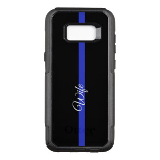 Thin Blue Line Otterbox Samsung Galaxy S8 CAs OtterBox Commuter Samsung Galaxy S8+ Case
