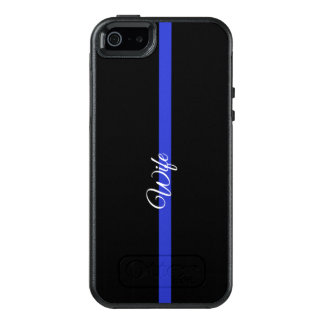 Thin Blue Line Otterbox Symmetry Iphone SE/5/5s Ca OtterBox iPhone 5/5s/SE Case
