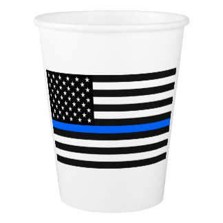 """THIN BLUE LINE"" PAPER CUP"