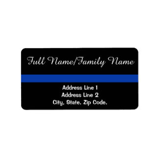 Thin Blue Line Personal White Text Label