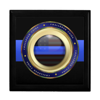 Thin Blue Line - Police Challenge Coin Box