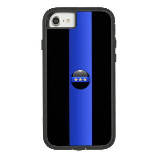 Thin Blue Line Police Chief 3 Star (gold) Case-Mate Tough Extreme iPhone 8/7 Case