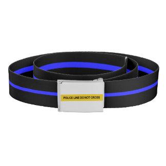 Thin Blue Line Police Crime Scene Tape Belt