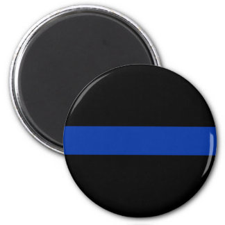 thin blue line police law 6 cm round magnet