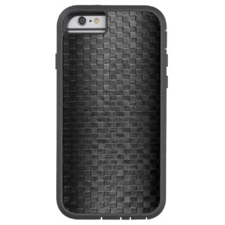 Thin Blue Line - Police Leather Small Basket Weave Tough Xtreme iPhone 6 Case