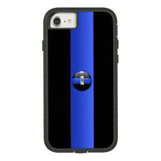 Thin Blue Line Police Lieutenant Silver Case-Mate Tough Extreme iPhone 8/7 Case