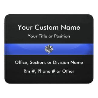 Thin Blue Line Police Lt. Colonel Door Sign