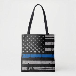 Thin Blue Line - Police Officer - K9 Police Dog Tote Bag