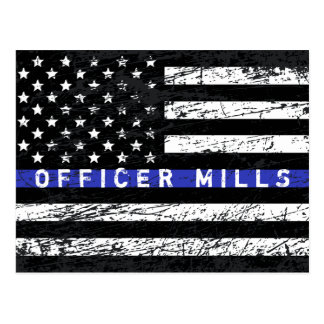 Thin Blue Line Postcard