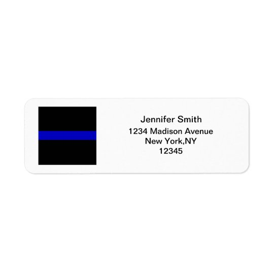 Thin Blue Line Return Address Label