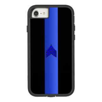 Thin Blue Line Sergeant Stripes Case-Mate Tough Extreme iPhone 8/7 Case