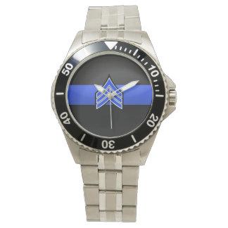 Thin Blue Line - Sergeant Stripes Watch