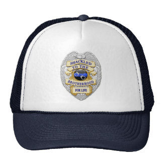 Thin Blue Line - Shackled to the Brotherhood Badge Cap