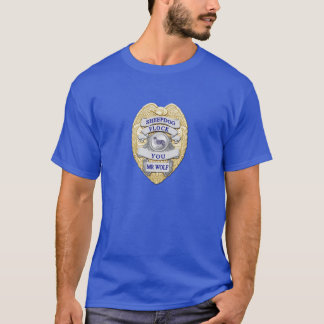 Thin Blue Line Sheepdog Badge T-Shirt
