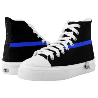 Thin Blue Line Shoes Hi Tops Matthew 5:9 scripture