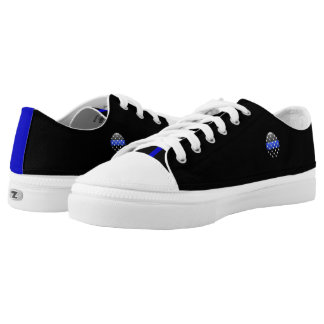 Thin Blue Line Stars Buttons Low Tops