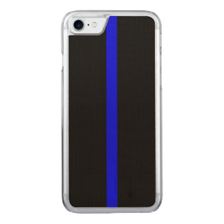 Thin Blue Line Symbol on a Carved iPhone 8/7 Case