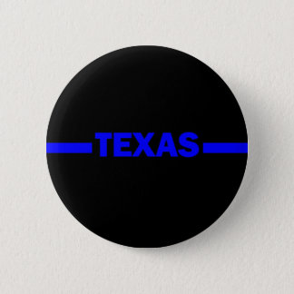 Thin Blue Line TEXAS Police Officer 6 Cm Round Badge