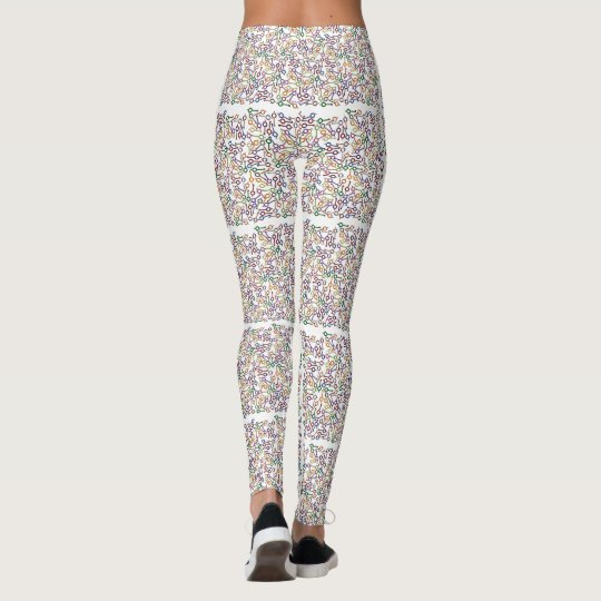 Thin Blue Line - Thousand Colourful Handcuff Keys Leggings