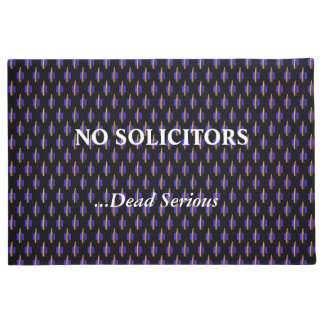 Thin Blue Line Tiled Bullets No Solicitors Doormat