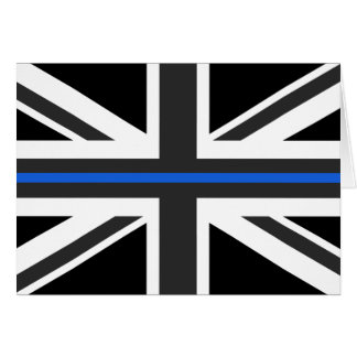 Thin Blue Line UK Flag Card