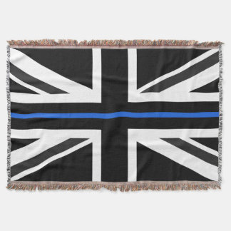 Thin Blue Line UK Flag Throw Blanket
