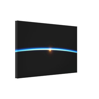 Thin Blue Line Wrapped Canvas Print