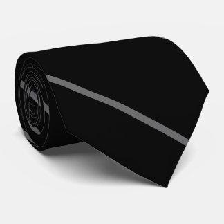 Thin diagonal stripes classic everyday black tie