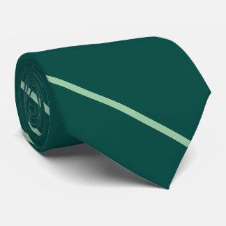 Thin diagonal stripes classic everyday green tie