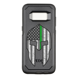 Thin Green Line American Spartan OtterBox Commuter Samsung Galaxy S8 Case