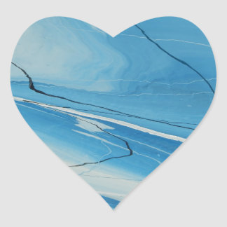 Thin Ice Heart Sticker