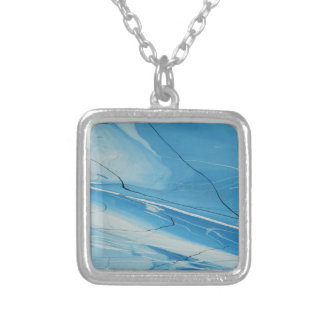 Thin Ice Silver Plated Necklace