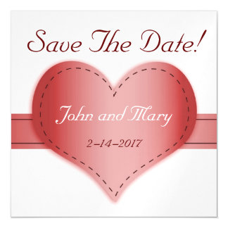 Thin Magnetic Card - Save The Date Heart