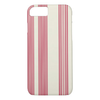 Thin Pink Vertical Stripes Off White Background iPhone 7 Case