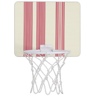 Thin Pink Vertical Stripes Off White Background Mini Basketball Hoop