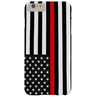 Thin Red Line American Flag Barely There iPhone 6 Plus Case