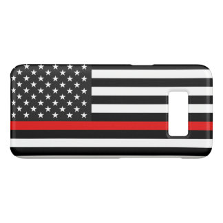 Thin Red Line American Flag Case-Mate Samsung Galaxy S8 Case