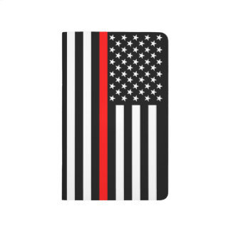 Thin Red Line American Flag graphic on a Journal
