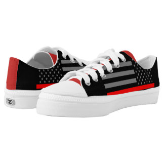 Thin Red Line American Flag graphic on Low Tops