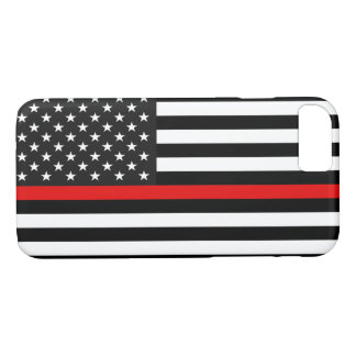 Thin Red Line American Flag iPhone 8/7 Case