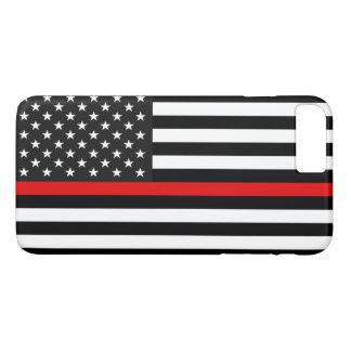 Thin Red Line American Flag iPhone 8 Plus/7 Plus Case