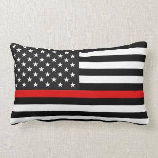 Thin Red Line American Flag Lumbar Cushion