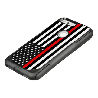 Thin Red Line American Flag OtterBox Commuter Google Pixel Case