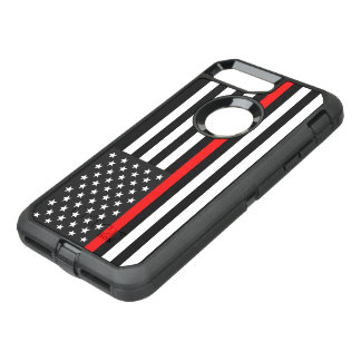 Thin Red Line American Flag OtterBox Defender iPhone 8 Plus/7 Plus Case